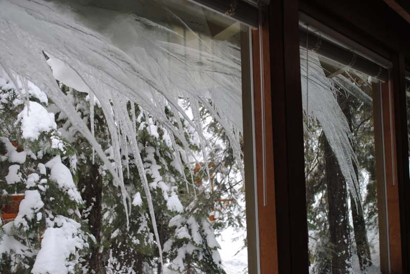 Icicles trying their best to break into our kitchen