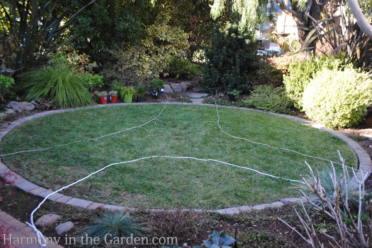 Replacing a lawn with a garden