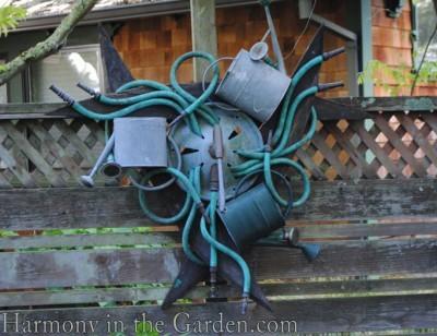 Freeland Tanner-Garden Designer-Napa-Garden Decor-Bespoke Garden Decor-garden temple-garden art-watering cans-garden hose art