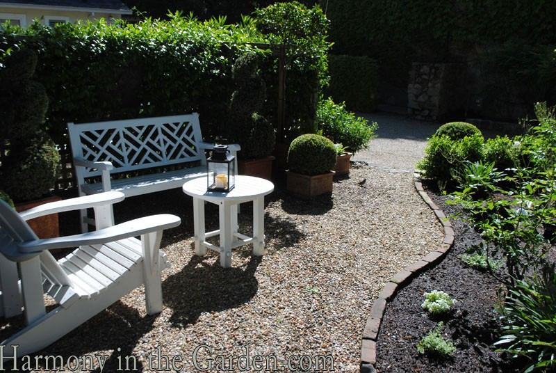 The french laundry s culinary garden and a sweet little for Garden seating areas