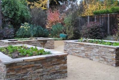 stone veg beds