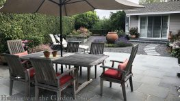garden makeover-removing pools-bluestone patio-northern california