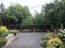 garden makeover-removing pools-northern california-vegetable bed-pea gravel