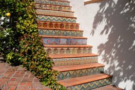 awkward space transformations-northern california-garden design-mosaic stairs