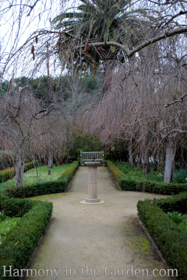 late winter formal garden